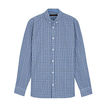 Buy Jaeger House Check Shirt, Blue Online at johnlewis.com