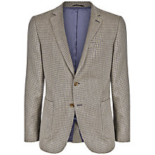 Buy Jaeger Puppytooth Modern Jacket, Taupe Online at johnlewis.com