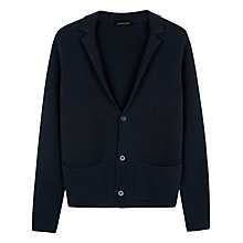 Buy Jaeger Cotton Blazer, Navy Online at johnlewis.com