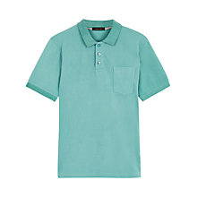 Buy Jaeger Supima Cotton Polo Shirt, Light Emerald Online at johnlewis.com