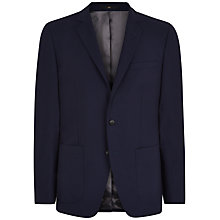 Buy Jaeger Textured Cotton Slim Fit Blazer, Navy Online at johnlewis.com