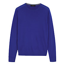 Buy Jaeger Gostwyck Crew Neck Jumper, Cobalt Blue Online at johnlewis.com