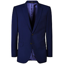 Buy Jaeger Wool Mohair Modern Fit Suit Jacket, Blue Online at johnlewis.com