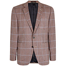 Buy Jaeger House Check Modern Blazer, Red Online at johnlewis.com