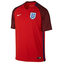 Buy Nike England Away Stadium Football Shirt, Red Online at johnlewis.com