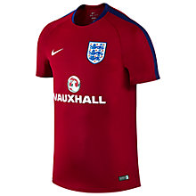Buy Nike England Flash Training Football Short Sleeve Shirt, Red Online at johnlewis.com