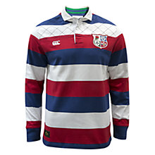 Buy Canterbury of New Zealand British Lions Long Sleeve Classic Rugby Shirt, Blue/Red/White Online at johnlewis.com
