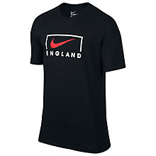 Buy Nike England EC16 Swoosh T-Shirt, Black Online at johnlewis.com