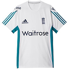 Buy Adidas England Cricket Training Top, White Online at johnlewis.com