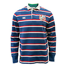 Buy Canterbury of New Zealand British Lions Long Sleeve Classic Rugby Shirt, Blue Stripes Online at johnlewis.com