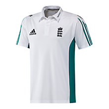 Buy Adidas 2016 England Cricket Replica Polo Shirt, White Online at johnlewis.com