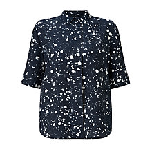 Buy Kin by John Lewis Ink Spot Print Shirt, Navy Online at johnlewis.com