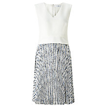 Buy John Lewis Peplum Pleated Dress, Multi Online at johnlewis.com
