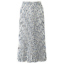 Buy John Lewis Pleated A-Line Skirt, Blue Online at johnlewis.com