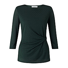 Buy John Lewis Twisted Waist Three Quarter Sleeve Top Online at johnlewis.com