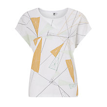 Buy Kin by John Lewis Shard Print Top, White Online at johnlewis.com