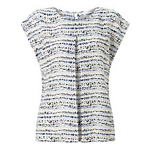 Buy John Lewis Front Pleat Cap Sleeve Top, Multi Online at johnlewis.com