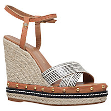 Buy Kurt Geiger Aria Wedge Heeled Sandals, Tan Comb Online at johnlewis.com