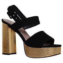 Buy Kurt Geiger Koko Platform Block Heel Sandals, Black Suede Online at johnlewis.com