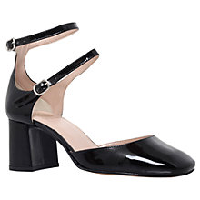 Buy KG by Kurt Geiger Dolly Double Strap Court Shoes, Black Patent Online at johnlewis.com
