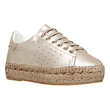 Buy KG by Kurt Geiger Lovebug Flat Low Top Trainers, Champagne Online at johnlewis.com