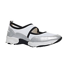 Buy KG by Kurt Geiger Lemon Slip On Trainers, Silver Online at johnlewis.com