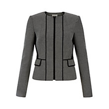 Buy Hobbs Lillian Jacket, Black/White Online at johnlewis.com