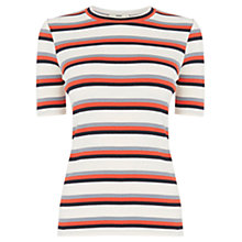 Buy Oasis Skinny Striped T-Shirt, Multi Online at johnlewis.com