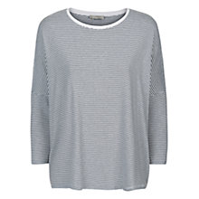 Buy Hobbs Emma T-Shirt, White/Navy Online at johnlewis.com