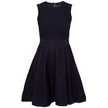 Buy Ted Baker Nadyne Ottoman Ribbed Dress, Navy Online at johnlewis.com
