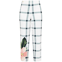 Buy Ted Baker Anmari Secret Trellis Cropped Trousers, White Online at johnlewis.com