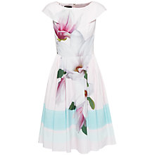 Buy Ted Baker Magnolia Stripe Dress, Nude Pink Online at johnlewis.com