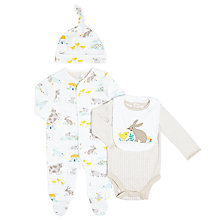 Buy John Lewis Baby Four Piece Farmyard Outfit Set, White/Multi Online at johnlewis.com