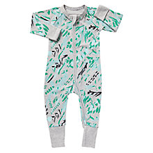 Buy Bonds Baby Zip Wondersuit Tribal Print Sleepsuit, Grey/Green Online at johnlewis.com