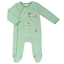 Buy John Lewis Baby Sheep Sleepsuit, Green/White Online at johnlewis.com