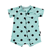 Buy Bonds Baby Zip Wondersuit Polka Dot Short Romper, Green/Multi Online at johnlewis.com