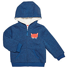 Buy John Lewis Baby Fox Hoodie, Navy/Multi Online at johnlewis.com