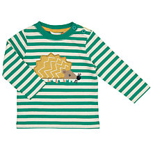 Buy John Lewis Baby Hedgehog T-Shirt, Green/White Online at johnlewis.com