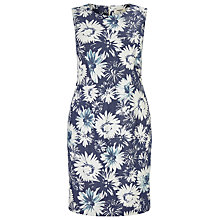 Buy Studio 8 Tiegen Floral Denim Dress, Blue/White Online at johnlewis.com