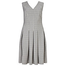Buy Studio 8 Trista Geometric Print Dress, Ivory/Navy Online at johnlewis.com