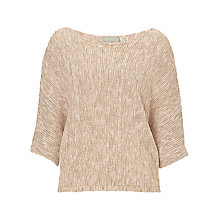 Buy Betty & Co. Batwing Jumper, Nature/Rosé Online at johnlewis.com