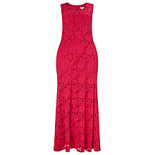 Buy Studio 8 Christine Lace Maxi Dress, Raspberry Online at johnlewis.com