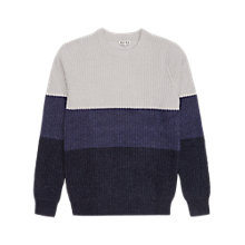 Buy Reiss Marlborough Crew Neck Jumper, Blue/White Online at johnlewis.com