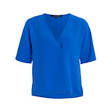Buy French Connection Arrow Crepe Wrap Over Top, Empire Blue Online at johnlewis.com