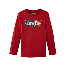 Buy Levi's Boys' Emilio Long Sleeve T-Shirt, Grey/Multi Online at johnlewis.com