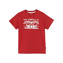Buy Levi's Boys' Two Horse Graphic Short Sleeve T-Shirt, Red Online at johnlewis.com