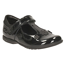 Buy Clarks Children's Trixie Beau Patent Leather School Shoes, Black Online at johnlewis.com