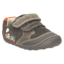 Buy Clarks Tiny Tom Leather Shoes, Dark Grey Online at johnlewis.com