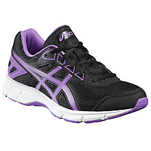 Buy Asics Children's Gel-Galaxy 9 GS Running Shoes, Black/Purple Online at johnlewis.com