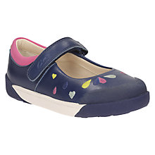 Buy Clarks Children's Lil Folk Peg Mary-Jane Shoes, Navy Online at johnlewis.com